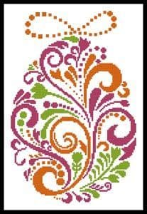 Abstract Easter Egg 4 by Artecy printed cross stitch chart